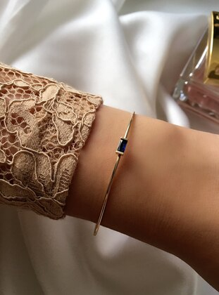 Gold - Navy Blue - Bracelet