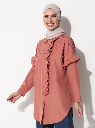 Dusty Rose - Point Collar - Blouses