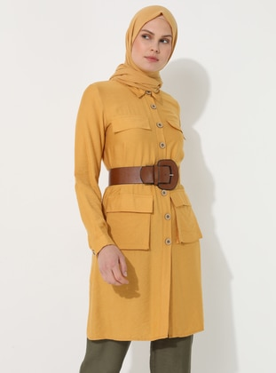 Yellow - Unlined - Point Collar - Topcoat