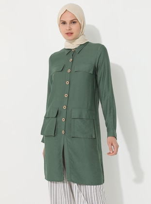 Green - Unlined - Point Collar - Topcoat