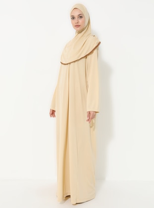 Beige - Unlined -  - Prayer Clothes