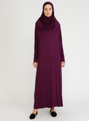 Purple - Unlined - Viscose - Prayer Clothes
