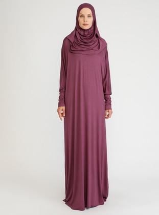 Purple - Plum - Unlined - Viscose - Prayer Clothes - Hal-i Niyaz