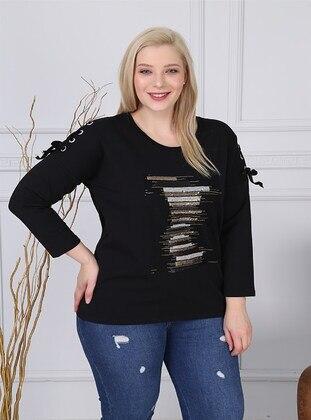 Black - Plus Size Sweatshirts - RMG XXL