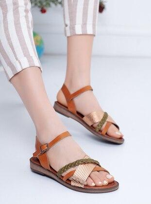 Khaki - Rose - Tan - Sandal - Sandal