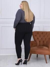 Black - Plus Size Tracksuit