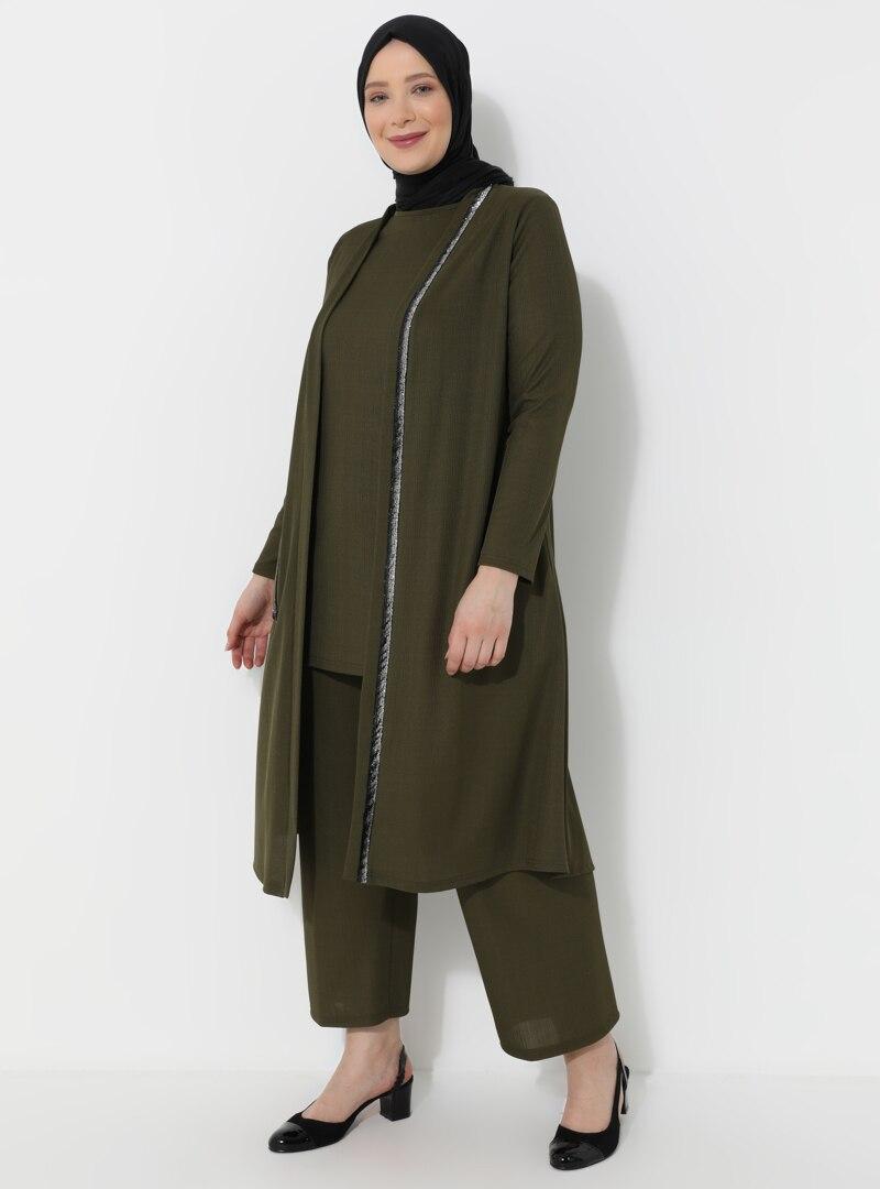 Plus Size Evening Suit Metex Khaki