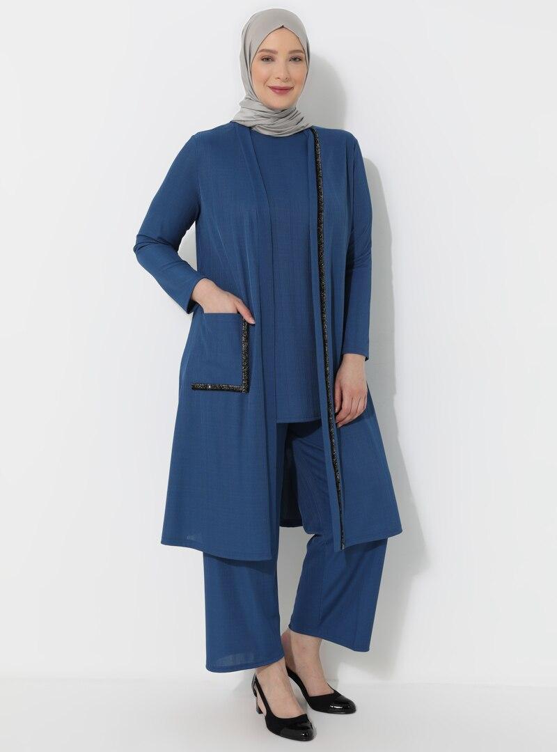 Plus Size Evening Suit Metex Indigo / Blue