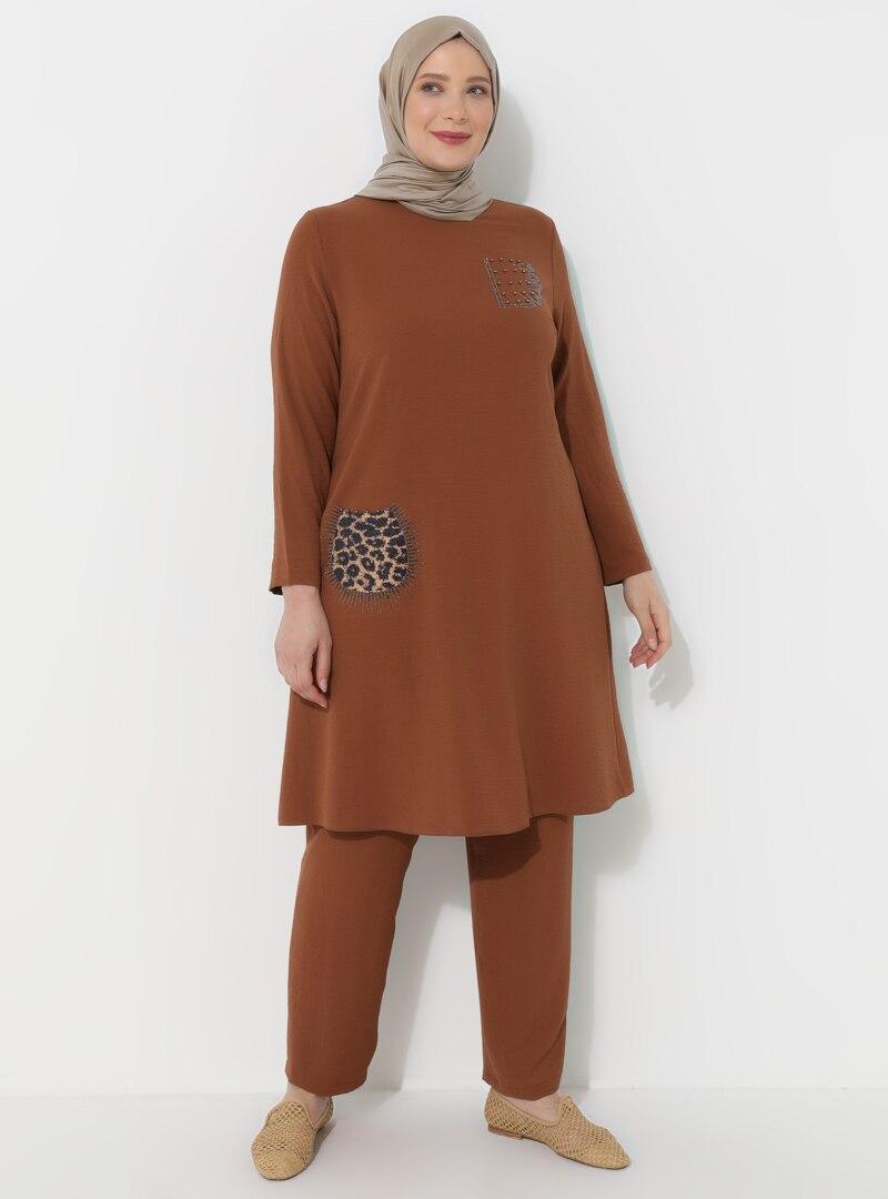 Plus Size Evening Suit Metex Tan