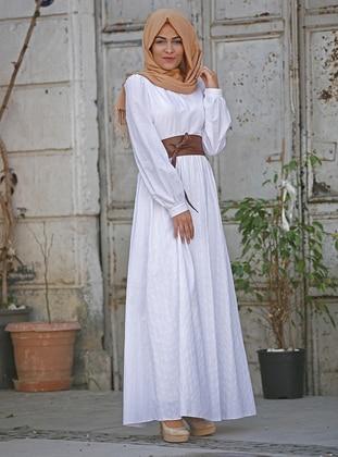 White - Fully Lined -  - Dress