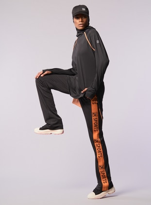 Terra Cotta - Orange - Crew neck - Sweatpants