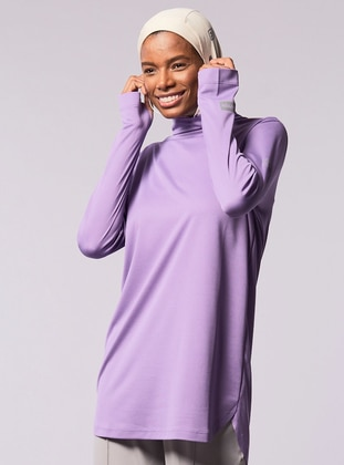 Lilac - Polo neck - Tracksuit Top