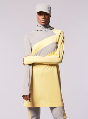 Gray - Yellow - Tracksuit Top - FD SPORTS