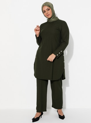 Emerald - Crew neck - Unlined - Plus Size Suit