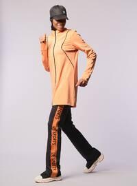 Terra Cotta - Orange - Crew neck - Sweatpants