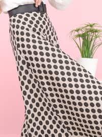 Stone - Polka Dot - Unlined -  - Skirt