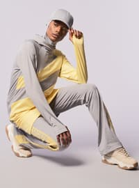 Gray - Yellow - Tracksuit Top