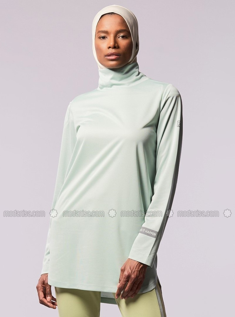 Sea-green - Polo neck - Tracksuit Top