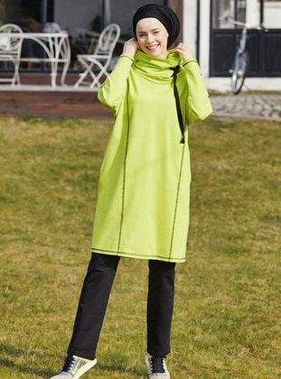 Green -  - Polo neck - Tracksuit Set
