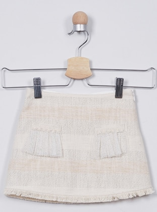 Acrylic -  - Ecru - Girls` Skirt