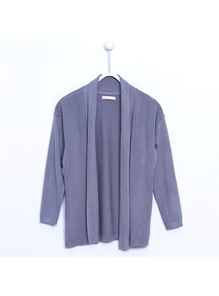 Gray - Girls` Cardigan - Silversun