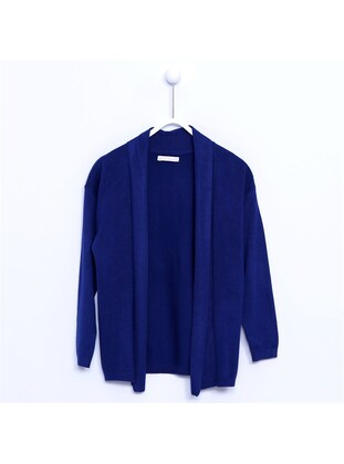 Navy Blue - Girls` Cardigan - Silversun