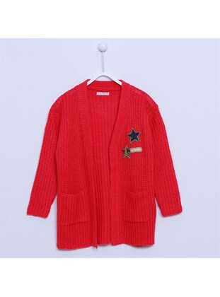 Red - Girls` Cardigan - Silversun