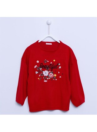Red - Girls` Pullover - Silversun