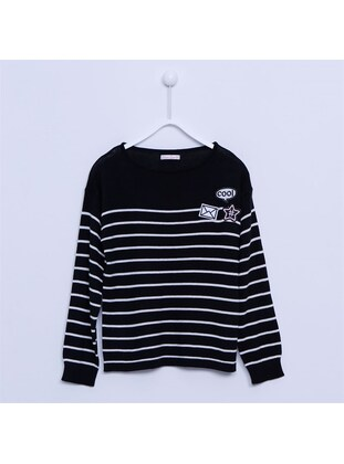 Black - Girls` Pullover - Silversun