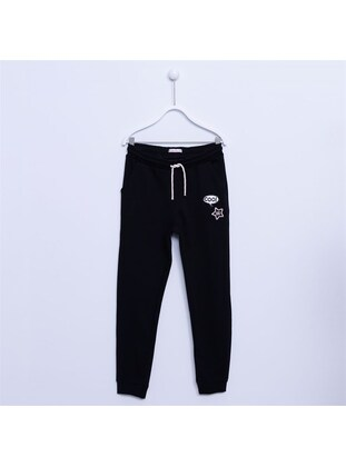 Black - Girls` Tracksuit - Silversun