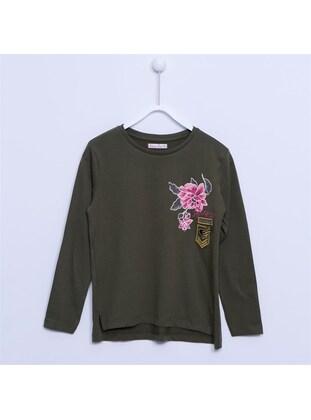 Khaki - Girls` T-Shirt