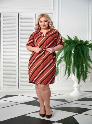 Terra Cotta - Muslim Plus Size Evening Dress