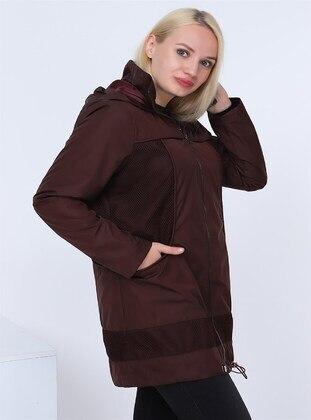 Maroon - Plus Size Coat