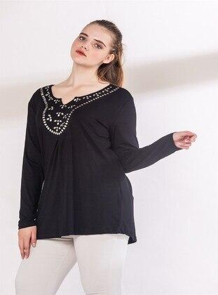 Black - Plus Size Blouse