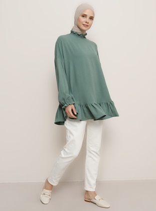 Green Almond - Polo neck - Blouses - Benin