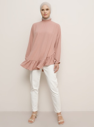 Salmon - Polo neck - Blouses - Benin