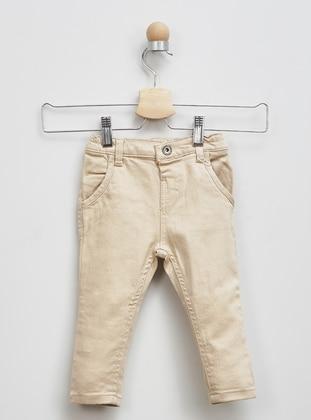 Cotton - Beige - Baby Pants