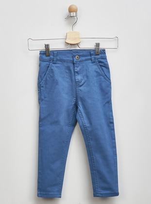 Linen - - Indigo - Boys` Pants