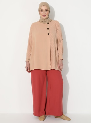 Pink -  - Plus Size Pants