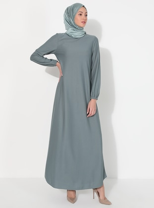 Mint - Hac ve Umre - Crew neck - Unlined - Dress - ECESUN