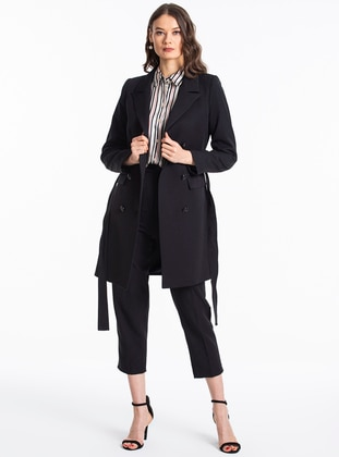Black - Unlined - Shawl Collar - Jacket