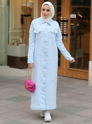 Baby Blue - Unlined - Point Collar - Denim - - Jacket