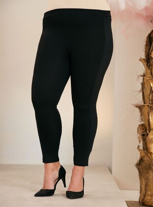 Black - Plus Size Leggings