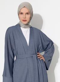 Unlined - Shawl Collar -  - Abaya