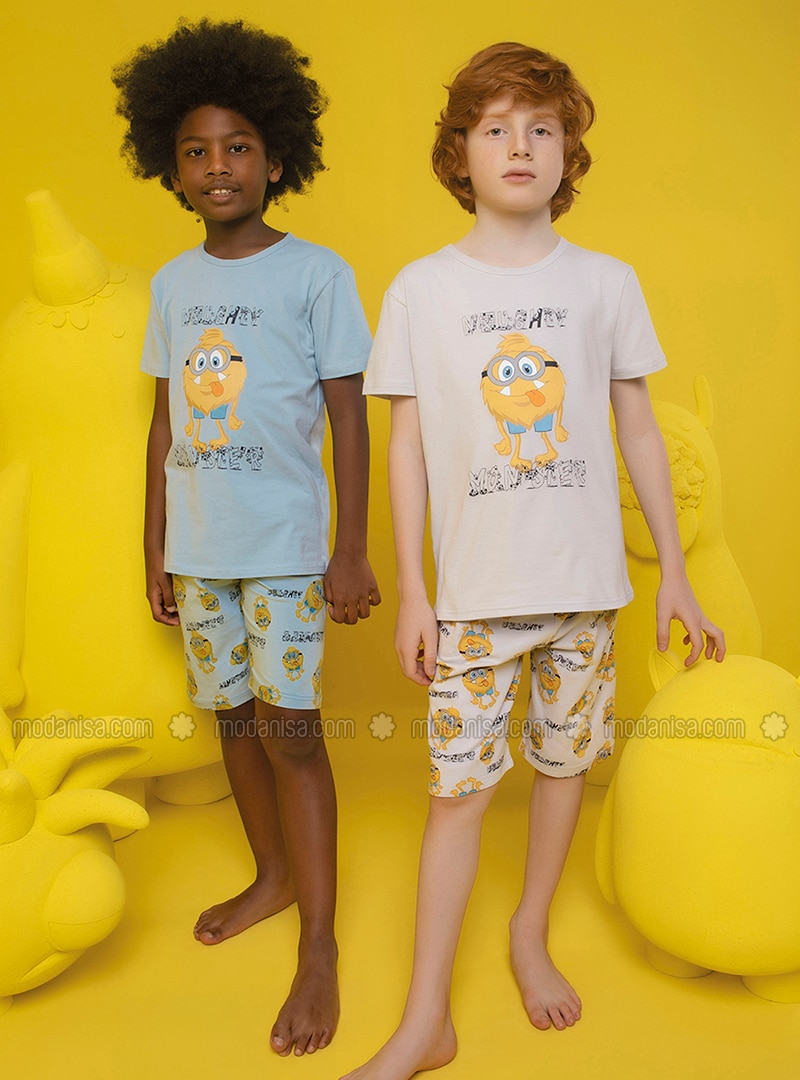 Crew neck - - Blue - Boys` Pyjamas