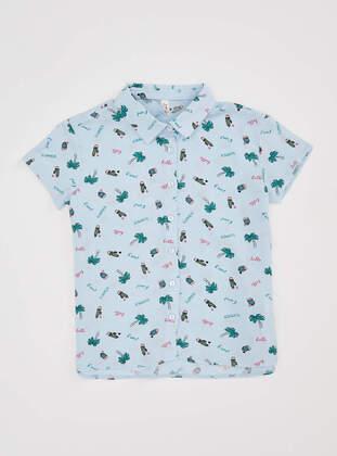 Blue - Girls` Shirt - DeFacto