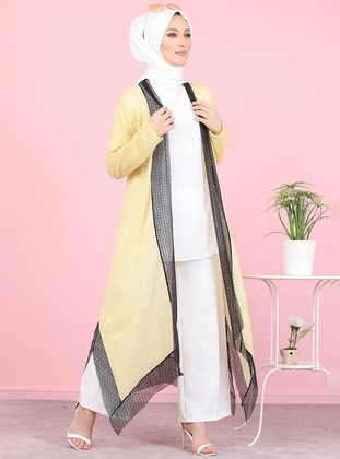 Yellow - Acrylic -  - Cardigan - Tofisa