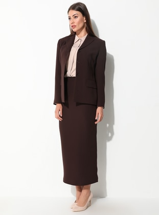 Brown - Stripe - Fully Lined - Suit
