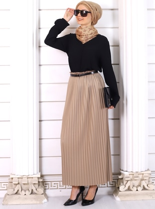 Mink - Unlined - Viscose - Skirt