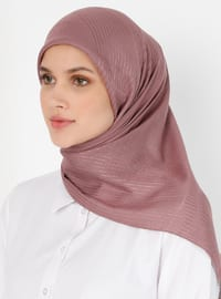 Dusty Rose - Striped - Viscose - Scarf